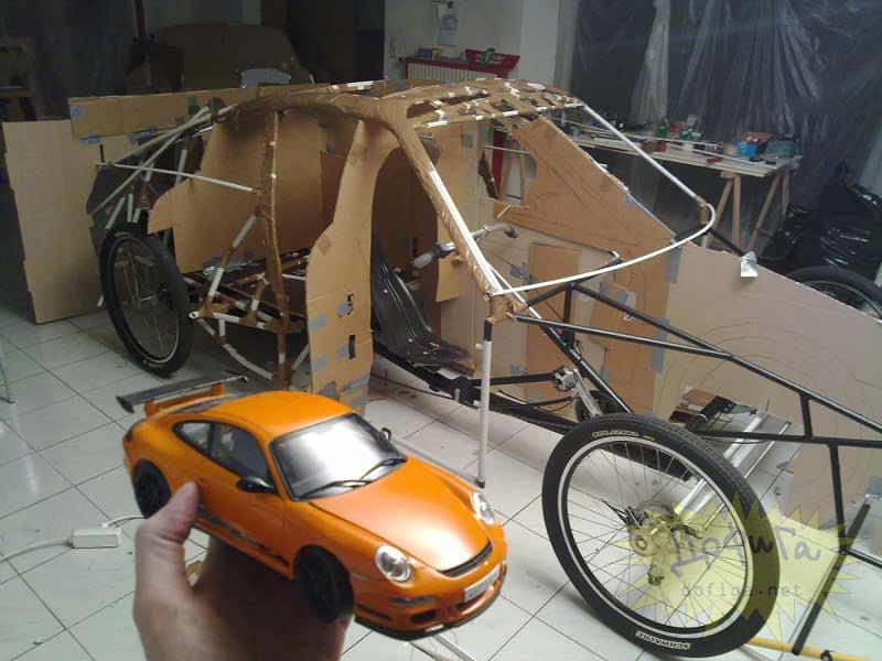 Esqueleto interior del vehículo