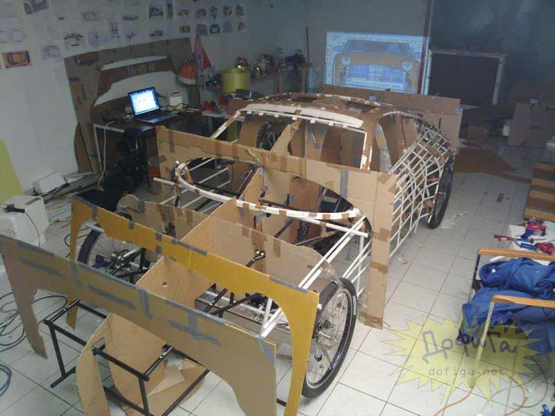 Estructura exterior del Porsche completa