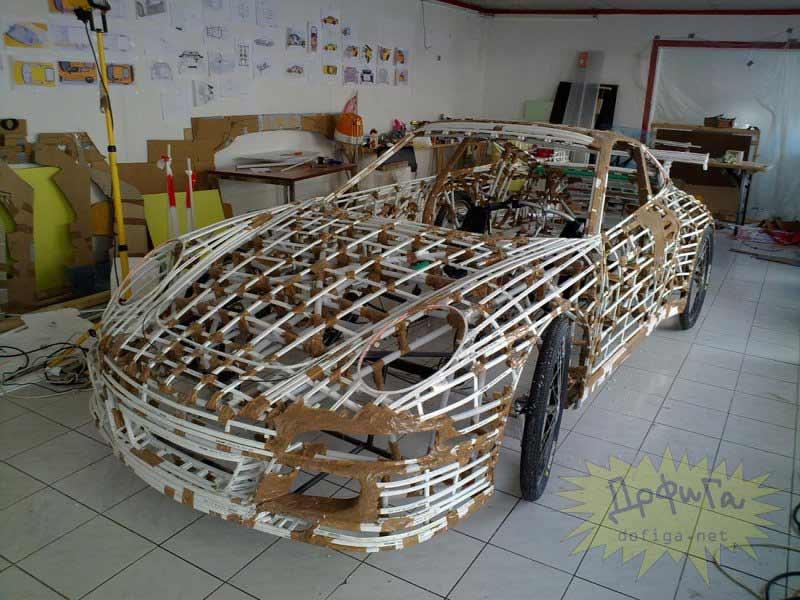 Estructura del coche terminada