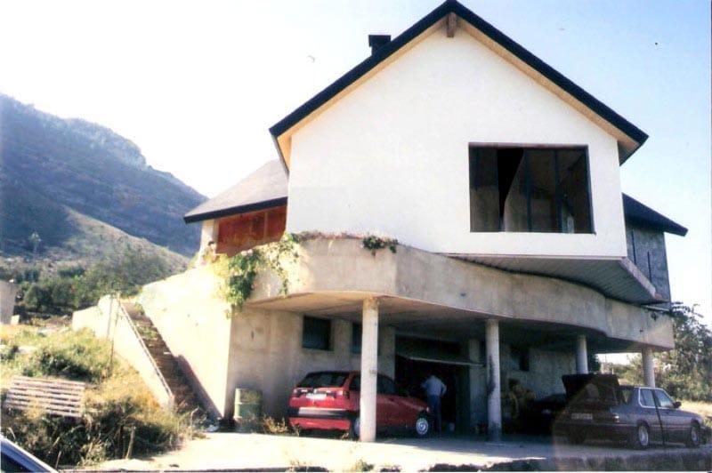 Construcción de una casa giratoria