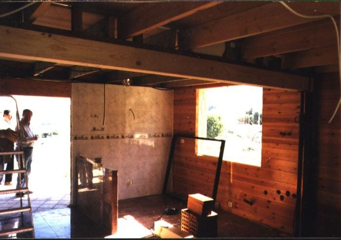 Interior de una vivienda giratoria