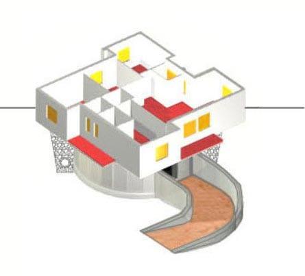 Planos de vivienda y estructura giratoria