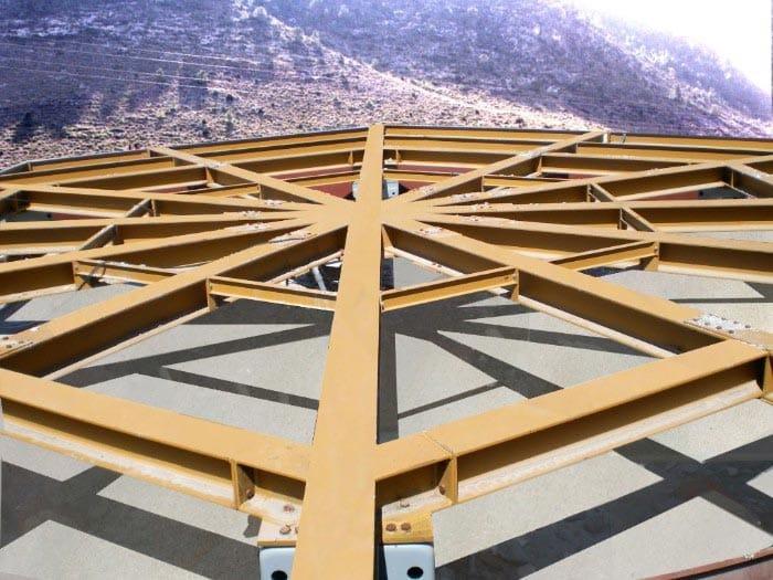 Estructura de la base de una vivienda giratoria