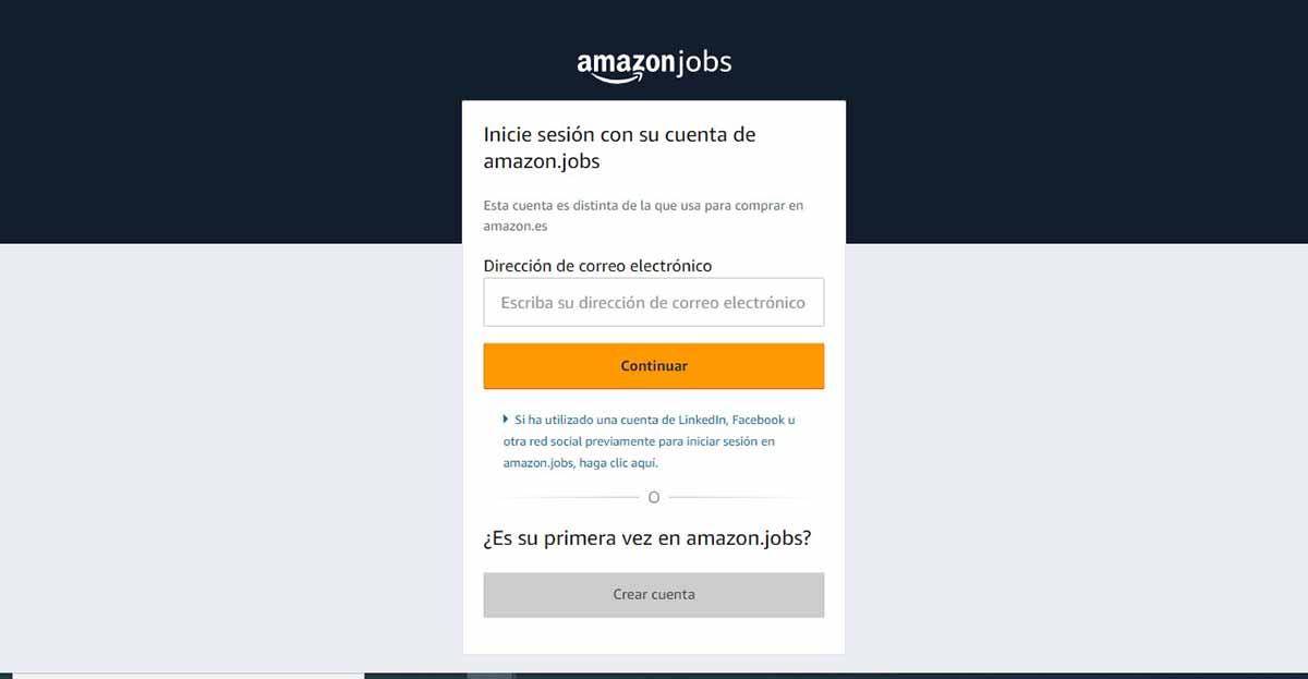 Iniciar sesión en Amazon Jobs