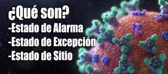 ¿Cuánto puede durar el Estado de Alarma? Diferencias con el estado de Excepción y de Sitio