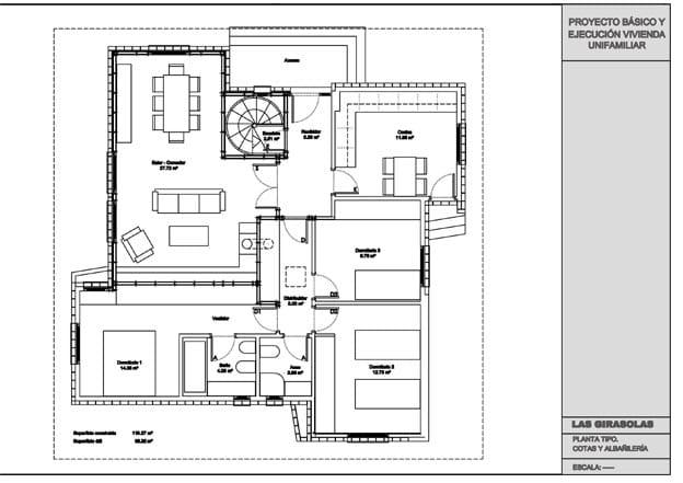 Planos de las habitaciones de una vivienda giratoria