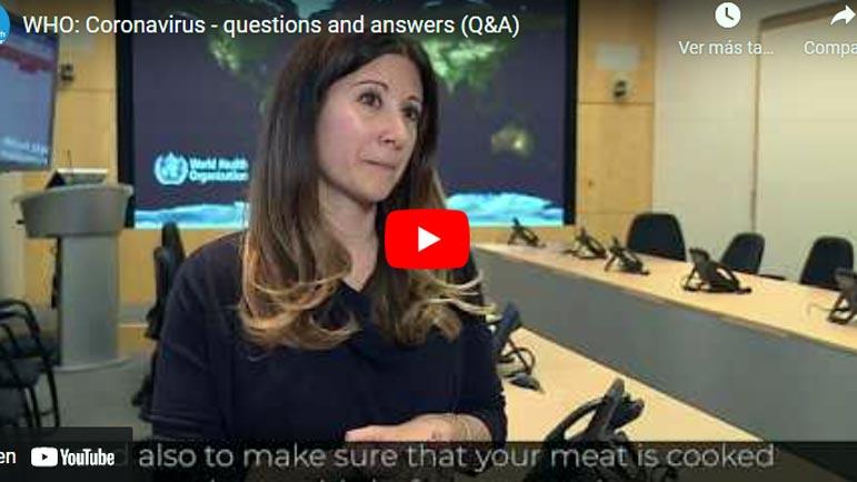 Video explicativo sobre el coronavirus