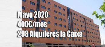 Pisos alquiler por 314 euros de la Caixa convocatoria 2020.