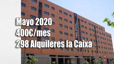 Pisos alquiler por 400 euros de la Caixa convocatoria Mayo 2020