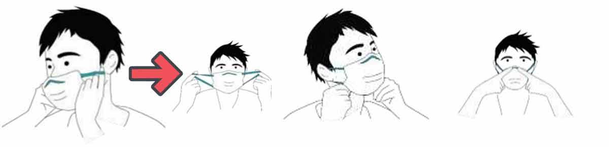 Cómo colocarse la mascarilla