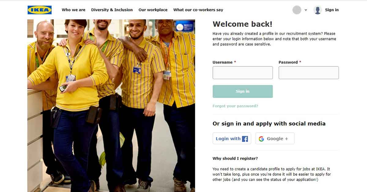 Cómo registrarse en el portal de empleo IKEA