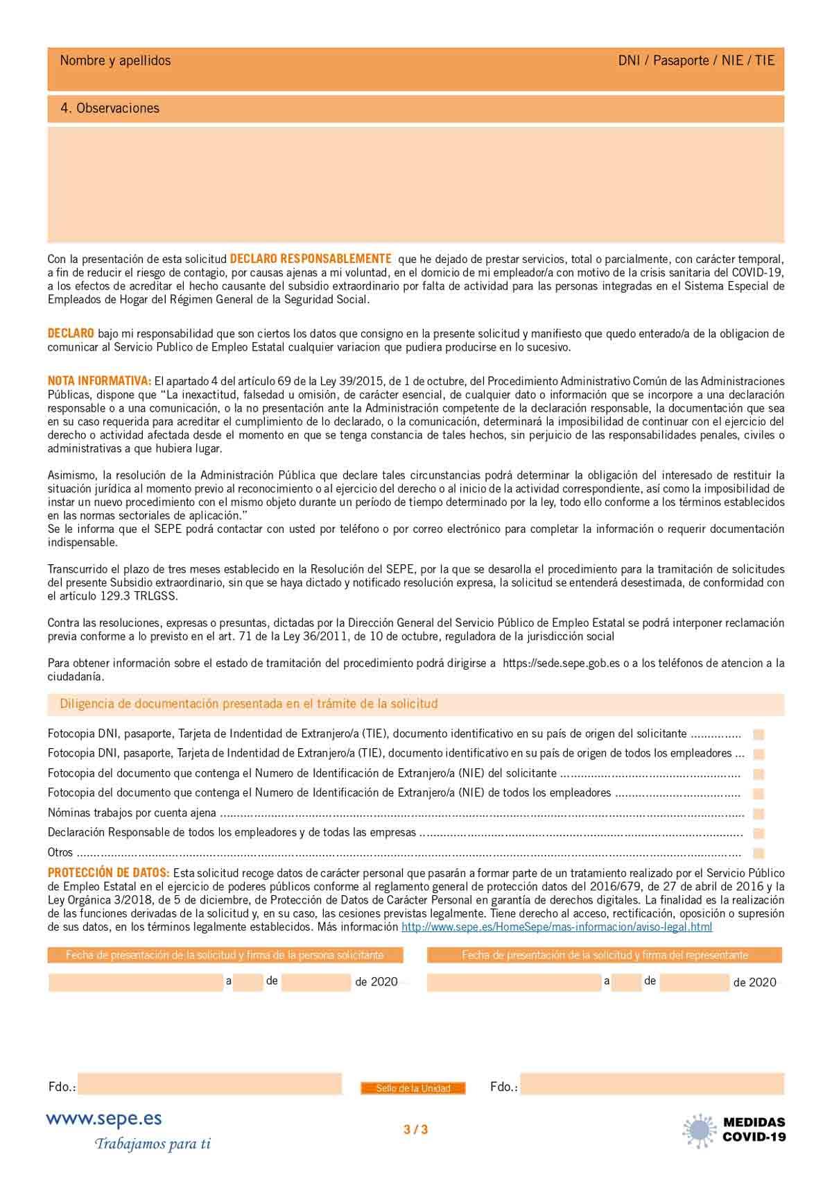 Modelo de solicitud subsidio página 3