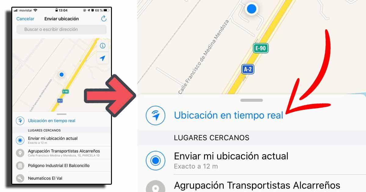 Cómo mandar la ubicación en tiempo real a través de Whatsapp