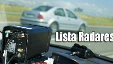 Lista radares DGT Fijos, Móviles y de Tramo por provincias y carreteras
