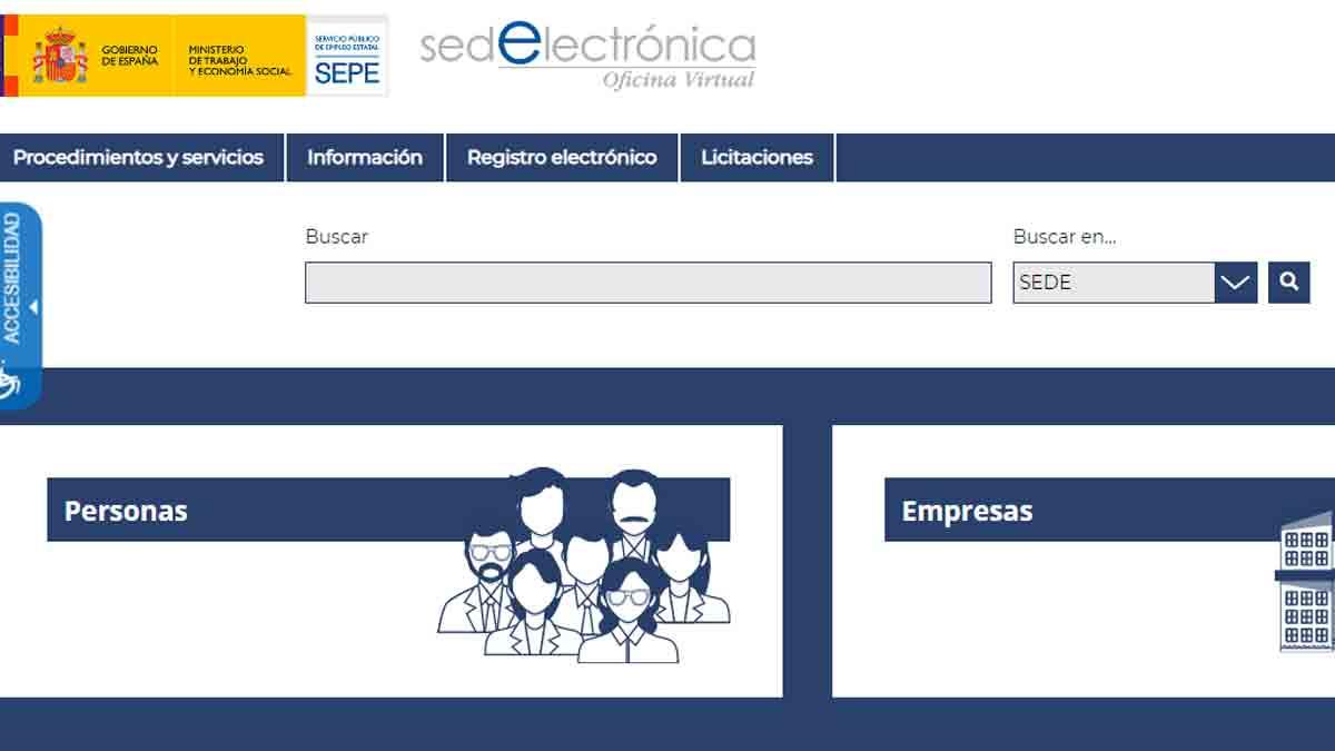 Sección Personas del SEPE