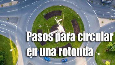 Así hay que conducir en una rotonda