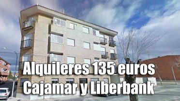 Más de 130 pisos de banco de Liberbank y Cajamar con alquileres desde 135 euros