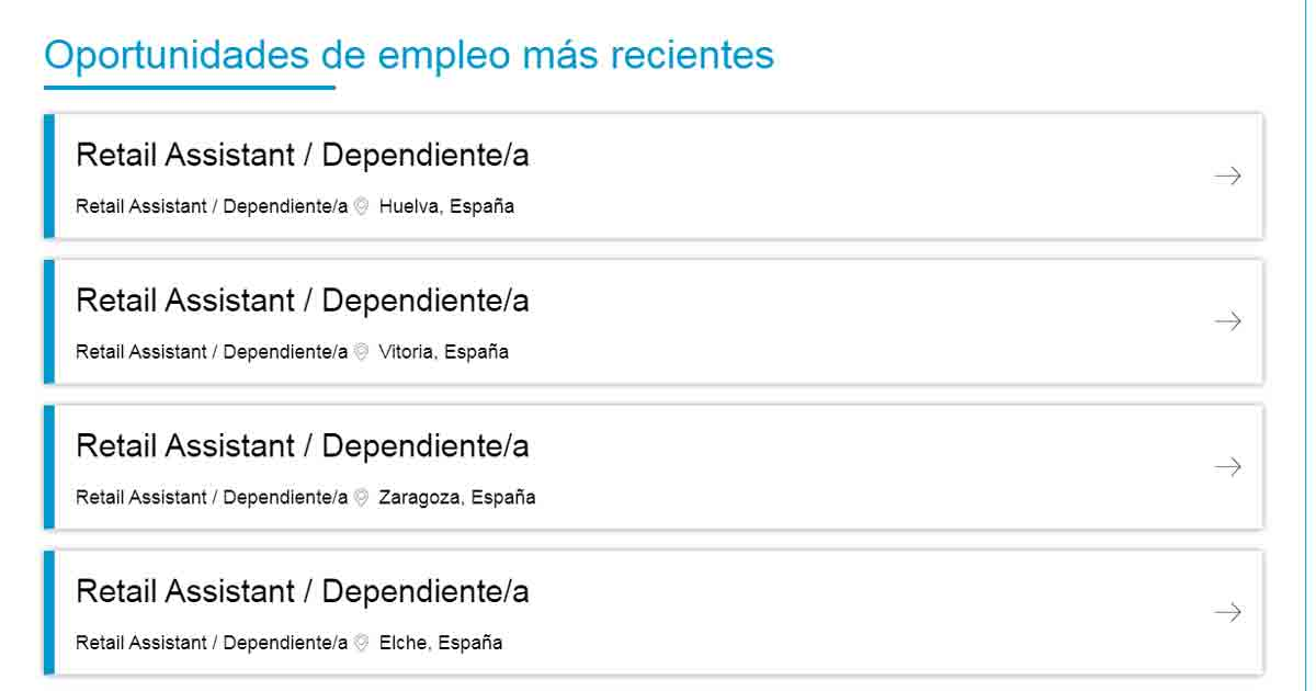 ofertas de empleo de vendedora Primark
