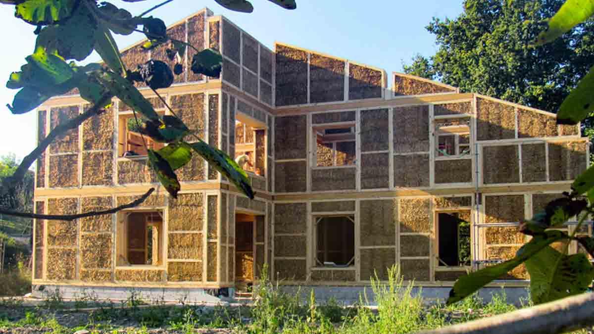 Estructura de casa prefabricada de paja