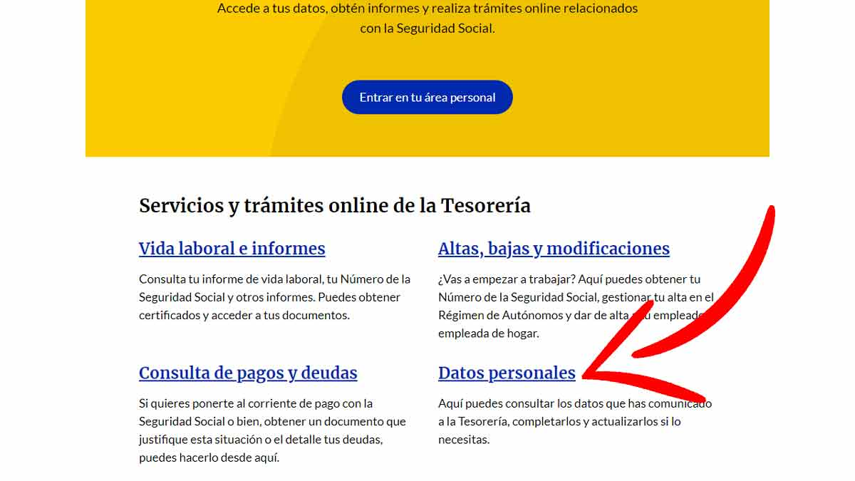 Acceso a datos personale