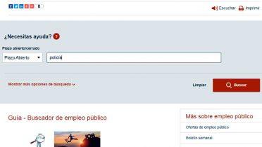 Buscador de empleo público del Gobierno