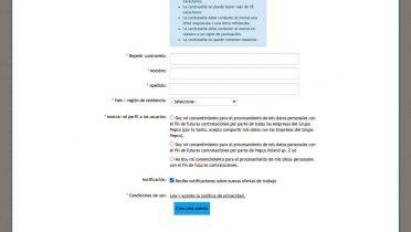 Segunda parte del formulario Pepco