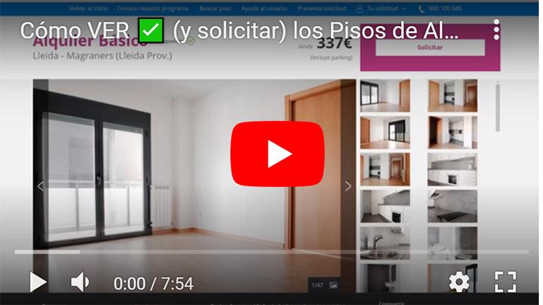 Video explicativo pisos alquiler baratos de la Caixa