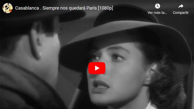 Video con el beso de despedida de la película Casablanca