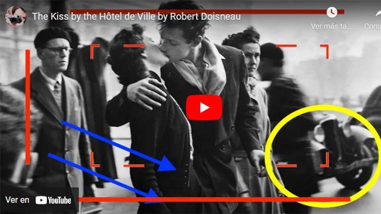 Video explicativo de cómo se hizo la famosa foto del beso del fotógrafo Robert Doisneau
