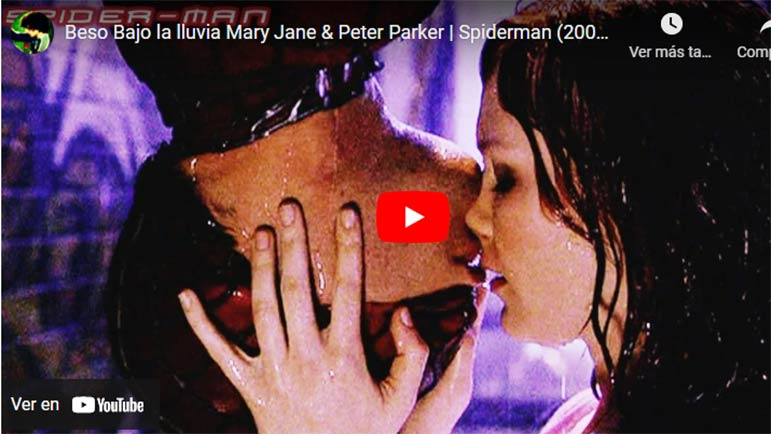 Video del beso entre Peter Parker y Mary Jane Watson