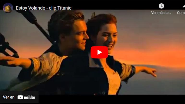 Video con el beso de la película Titanic