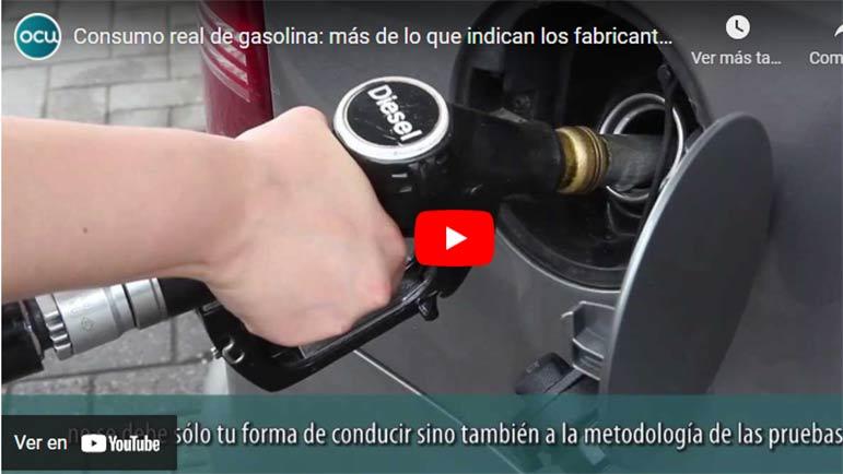 Video explicativo sobre los consumos de carburante en los coches, siempre más de lo que anuncian