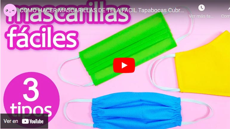 Video explicativo de tipos de mascarillas que puedes hacer cosiendo