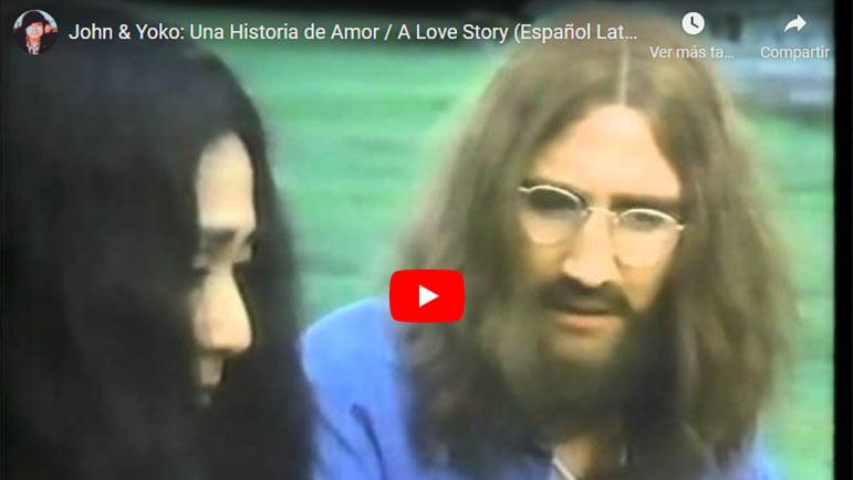 Video con la historia de amor de John Lennon y Yoko Ono