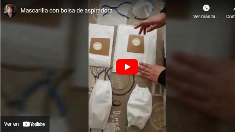 Video explicativo de cómo hacer mascarillas con una bolsa de aspiradora