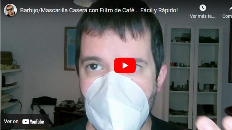 Video explicativo de cómo hacer con un filtro de café una mascarilla