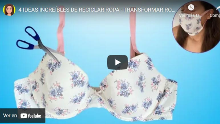 Video explicativo con métodos para hacer mascarillas con ropa