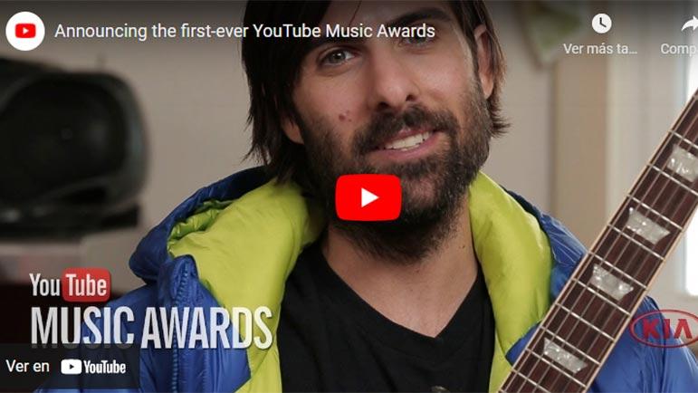 Video sobre los Music Awards de youtube