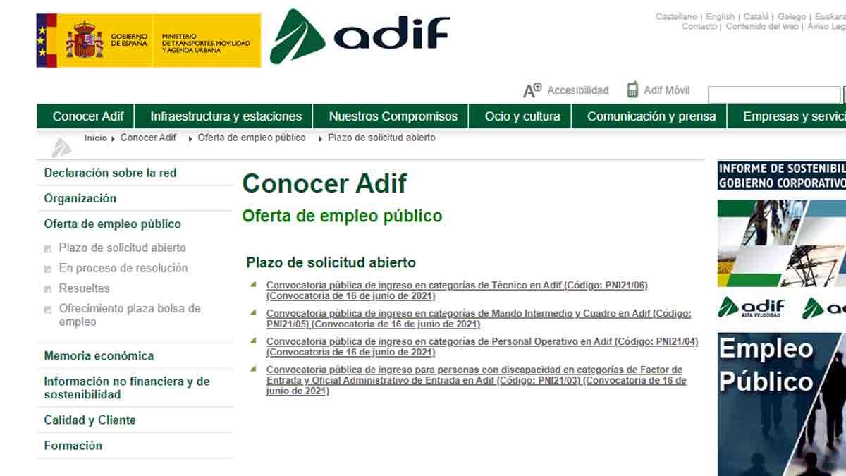 Convocatorias Adif