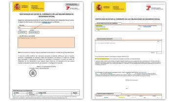 El certificado para autónomos y empresas del 'Informe de estar al corriente de las obligaciones en la Seguridad Social'.