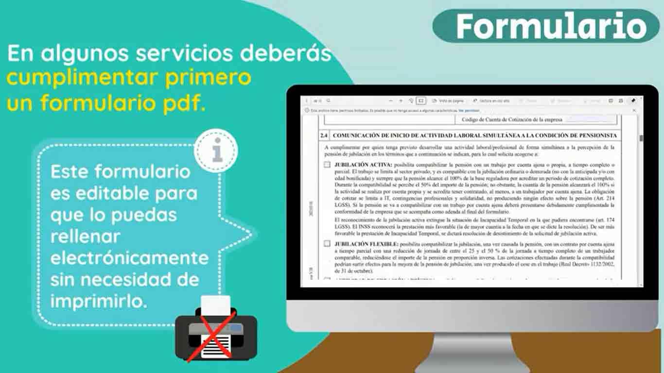 Formulario PDF seguridad social