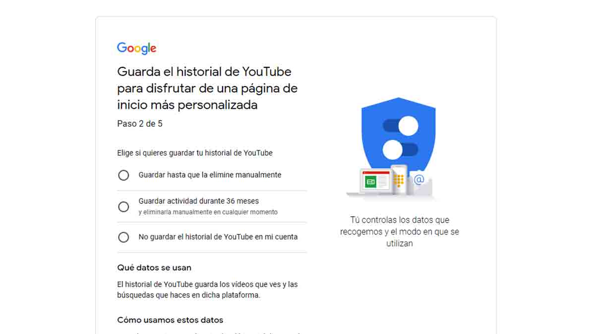 Historial de YouTube