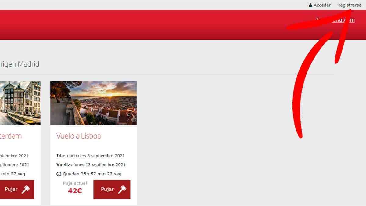 Cómo registrarse para participar en las subastas de Iberia