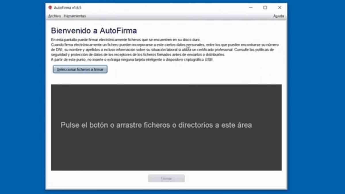 Adjuntar archivos a Autofirma