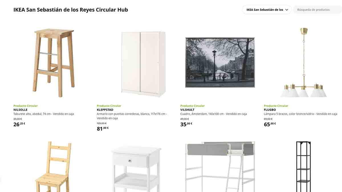 Catálogo de productos de Ikea en Circular Hub