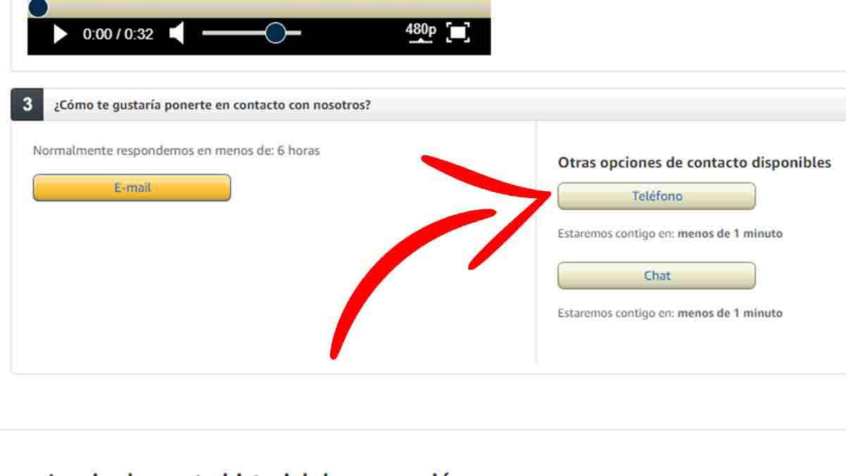 Contactar con Amazon por teléfono