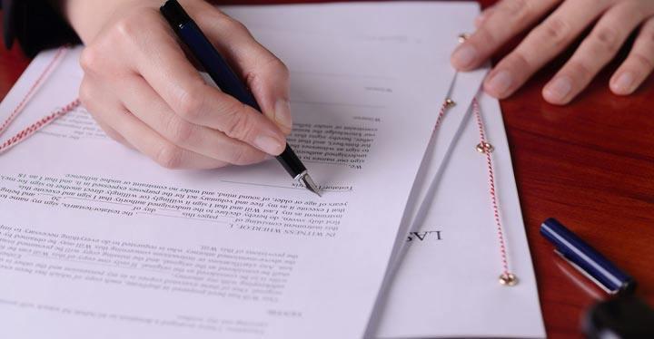 Documentación para hacer un testamento