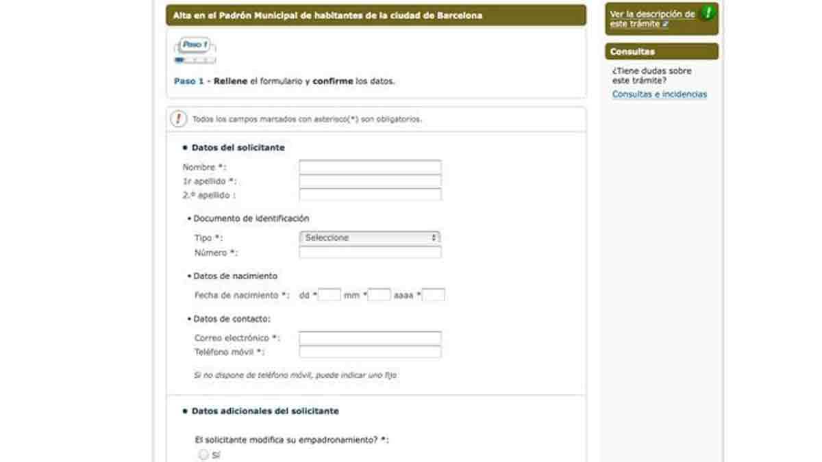Pedir cita previa en el Ayuntamiento de Barcelona