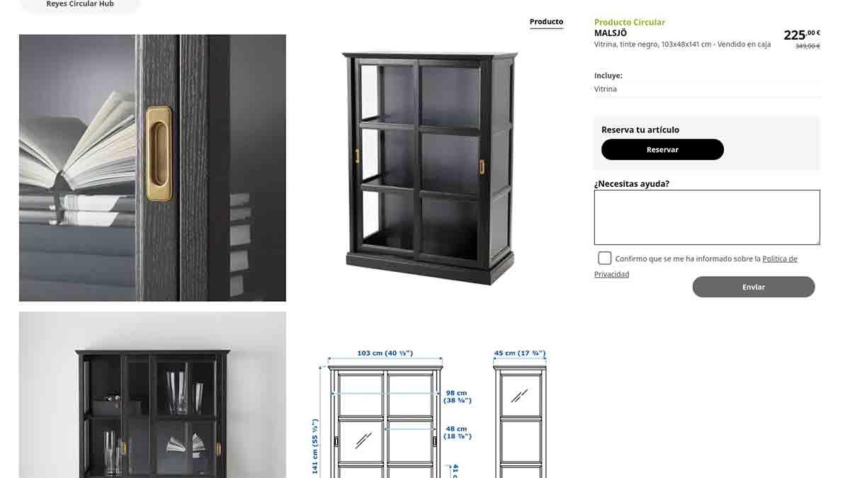 Estantería con descuento en Ikea
