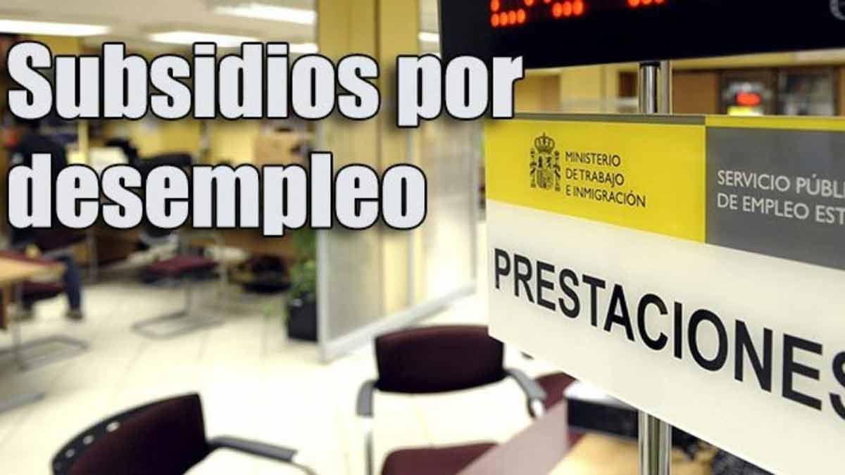 Subsidio por desempleo y prestaciones que se pueden pedir